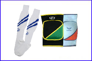 Grand Sport Football Socks and Knee Pads